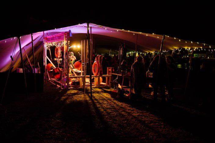 At Nithraid Nighttime festival