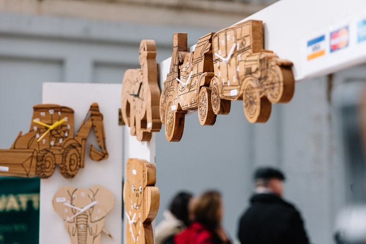 Wooden clocks from Wikid Wood