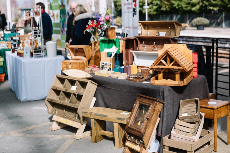 Glendivan Woodwork stall at Dumfries Farmers' Market