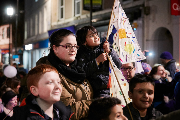 Happy faces of the youngsters that took part in Burns' lantern procession