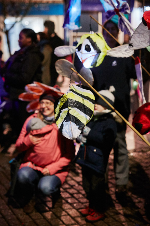 Bee-shaped lanterns for Big Burns Supper lantern procession