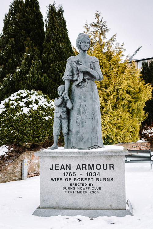 The statue of Jean Armour