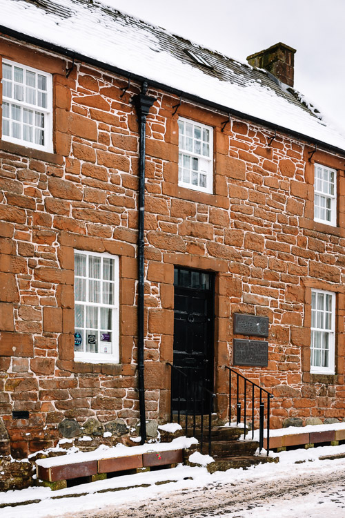 Burns House Museum, an important Robert Burns Dumfies location where the poet lived and died