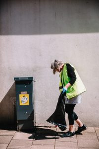 Litter pick in action