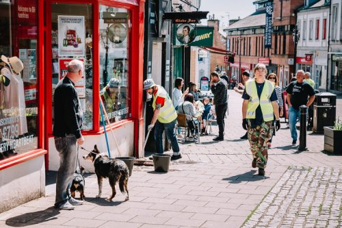 Doon Toon Army High Street cleanup was bleaaed by good weather