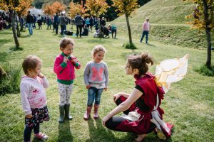 Cosmic faery from Dumfries Youth Theatre entertains kids