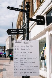 Programme announcing the order of performances at STAGE iT High Street takeover