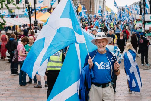 The YES campaigner rallies for the second referendum