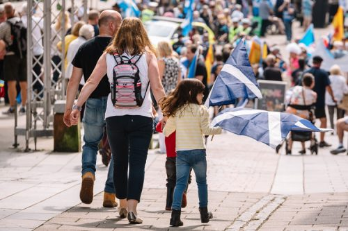 Dumfries families join the independence procession