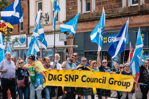 D&G SNP Council Group at Dumfries march for Scottish independence