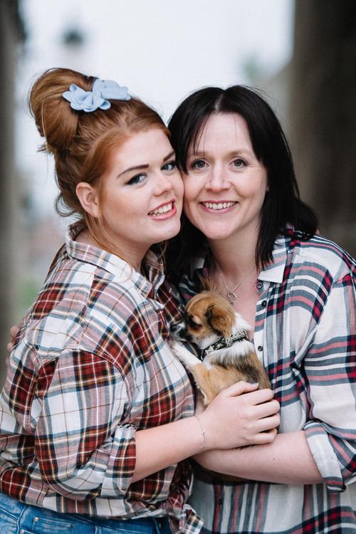 Julie with her daughter Meg