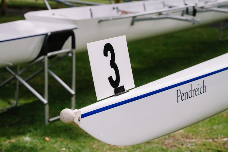 The boat number (detail)