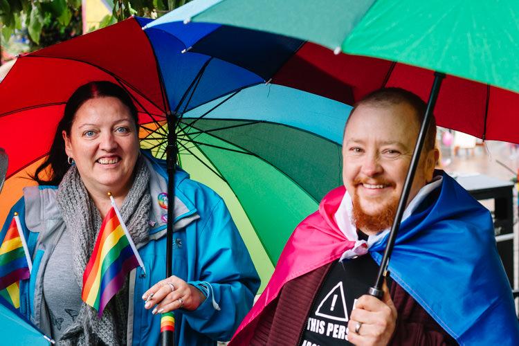 Doonhamers enjoying DG Pride despite the occasional drizzle