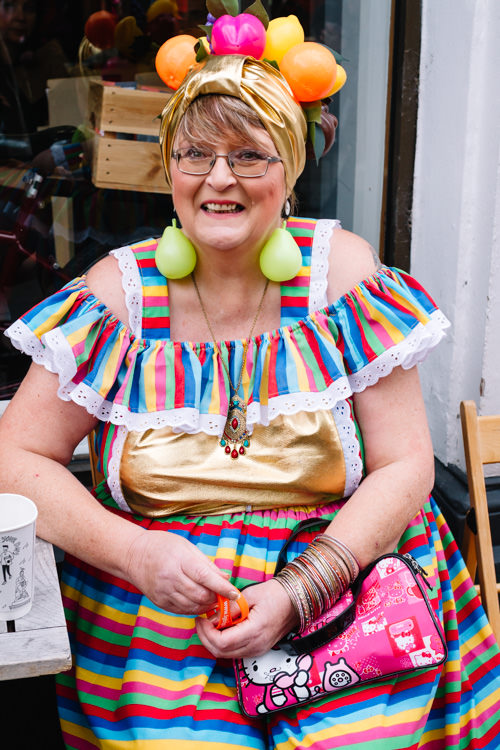 Extravagant outfit for LGBT Plus fundraising