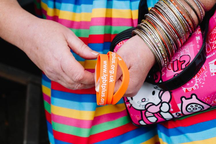 Orange bracelets for the charitable cause