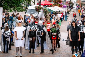 Nithraid 2018 Majik procession created by the local artist group Maddjakallss sets outs to march