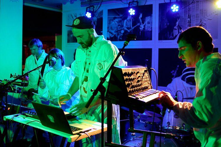 Synths band Future Get Down at DMC Showcase 2018, Dumfries