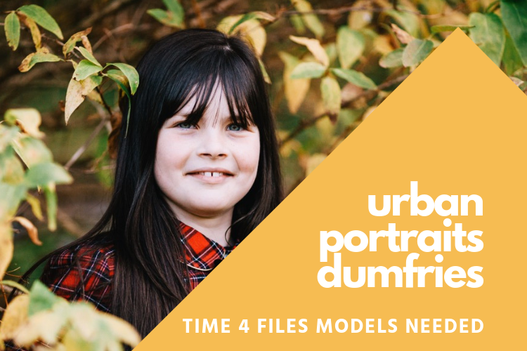 Call for volunteer models for the autumn vibes photo session for my Urban Portraits Dumfries project