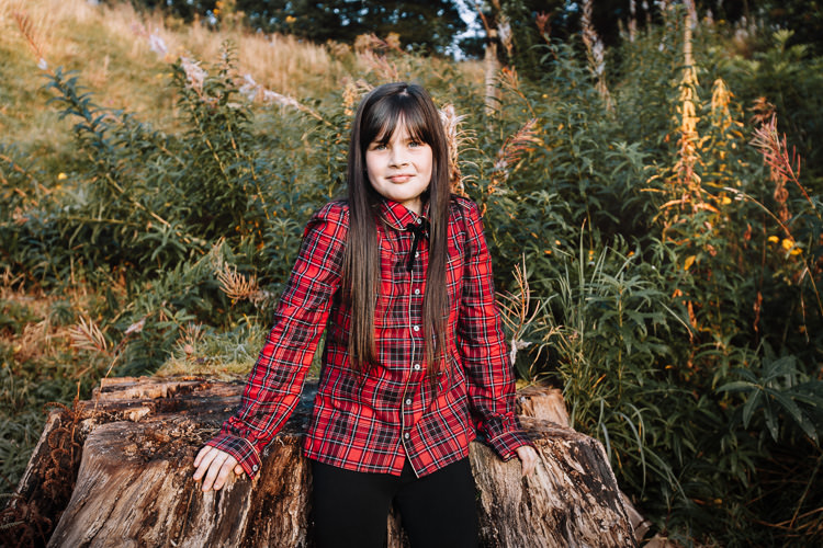 Outdoor portrait with autumn vibes