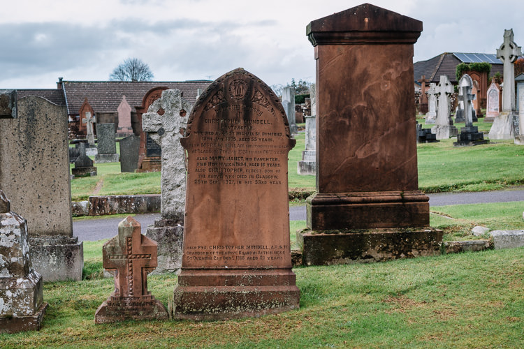 The Mundell family tombstone at Dumfries High Cemetery