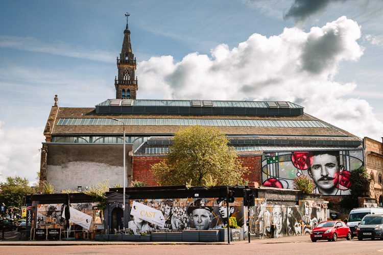 The Clutha bar near the river Clyde features prominently on Glasgow Mural Trail