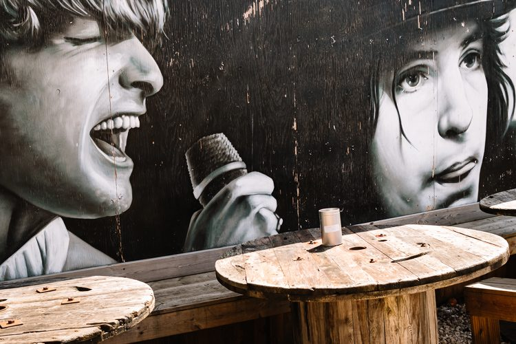Section of the older Rogue One's mural at the Clutha