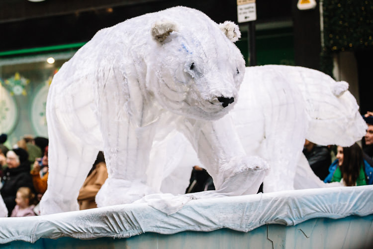 Polar bears float at Glasgow Style Mile carnival