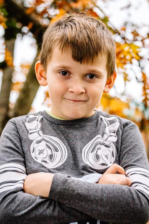 Autumnal portrait of Kevin