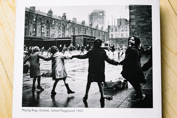 Marzaroli's Playing Ring, Gorbals School Playground, 1963 reproduced in the brochure