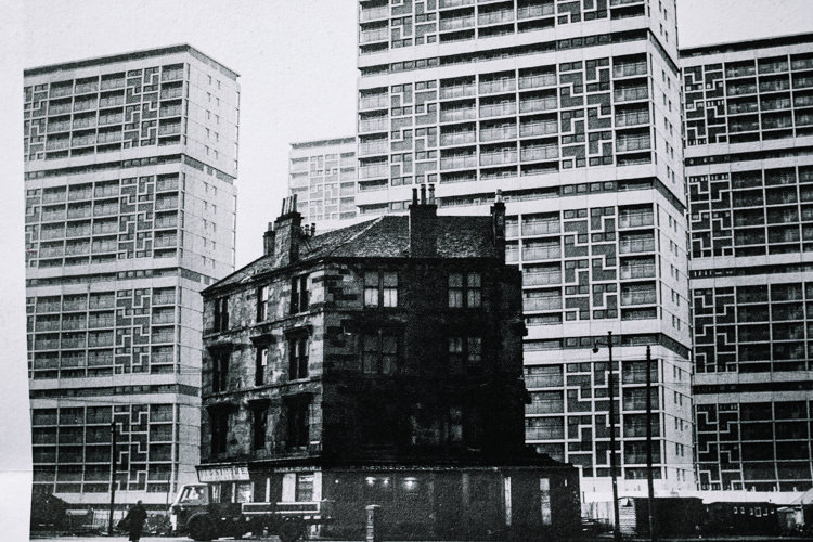 Oscar Marzaroli, The Old and the New, Gorbals, 1968