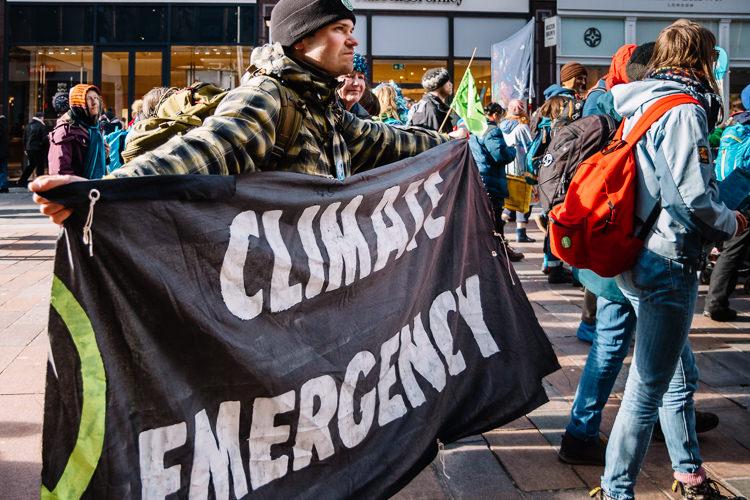Buchanan Street - climate emergency banner
