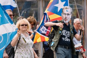 Protesters from All Under One Banner Scottish Independence march