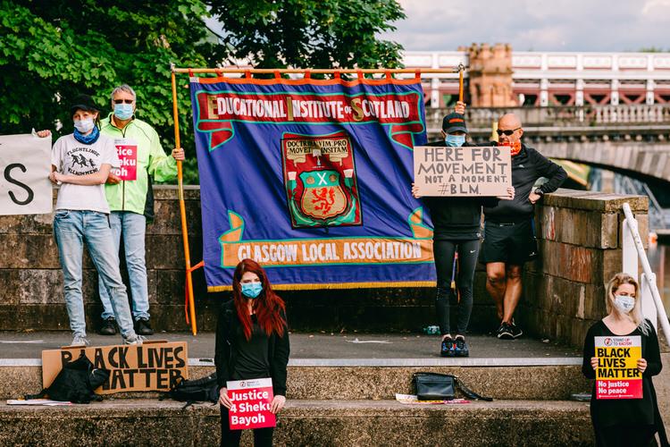 Under Glasgow Local Association Educational Institute of Scotland banner