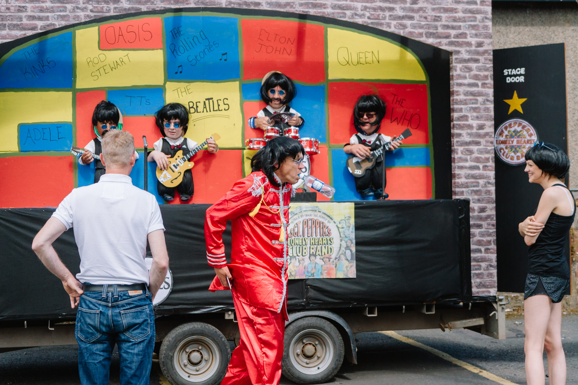 Participants of Guid Nychburris carnival Beetles float