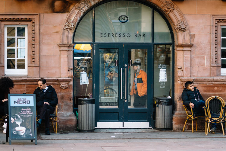 Cafe Nero at St Enoch still open on 19 March 2020 - business as usual