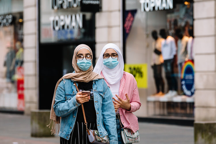 Wearing masks even outside the shops as a reasonable precaution