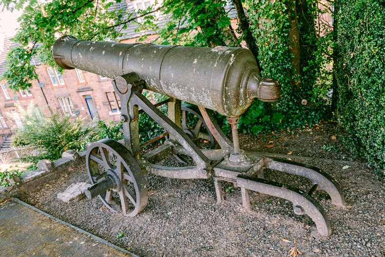 Russian cannon captured during the Crimean War