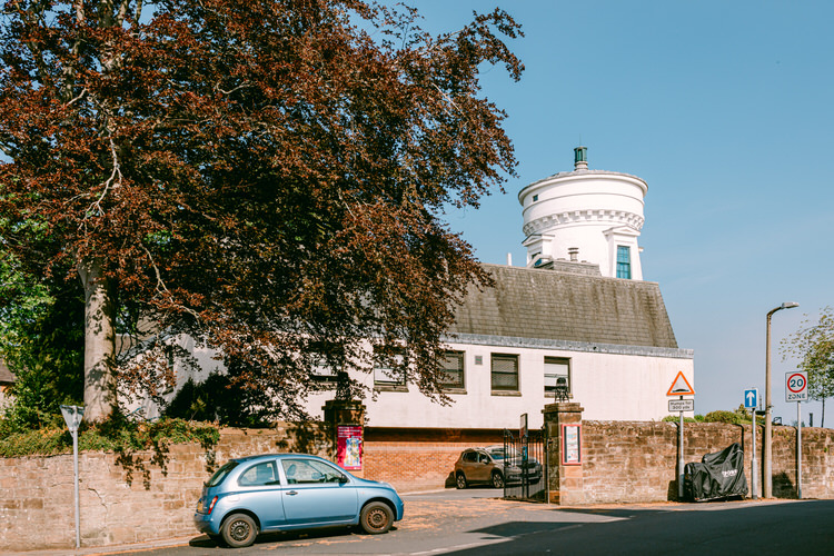 Dumfries Museum entrance, with an extension built in 1981