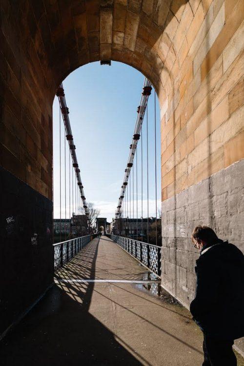 South Portland Suspension Bridge arch