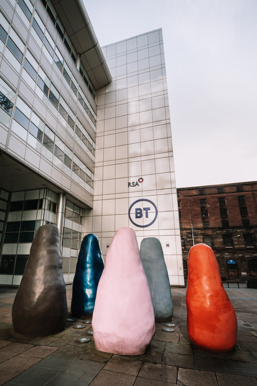 A sculptural group commissioned by BT to be available for public viewing as part of Alexander Bain House planning consent