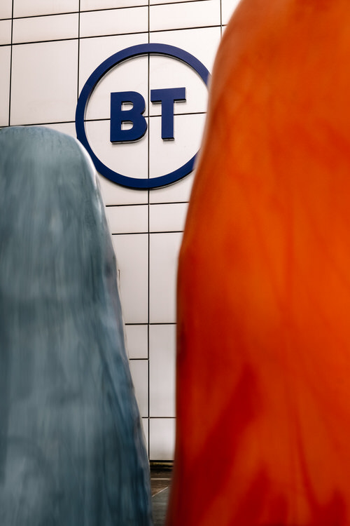 BT logo from inside the ring of beans