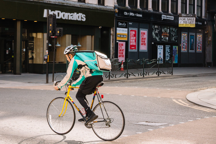 Lockdown visual stories: takeaway delivery riders