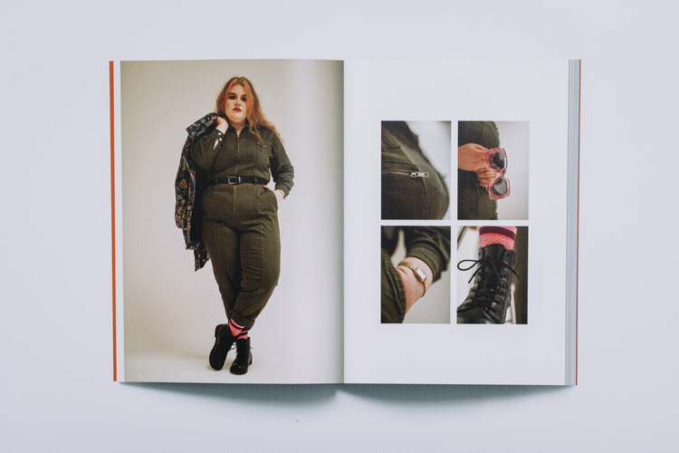One of the inside spread featuring a ginger model in her favourite outfit
