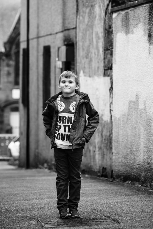 Boy's portrait standing