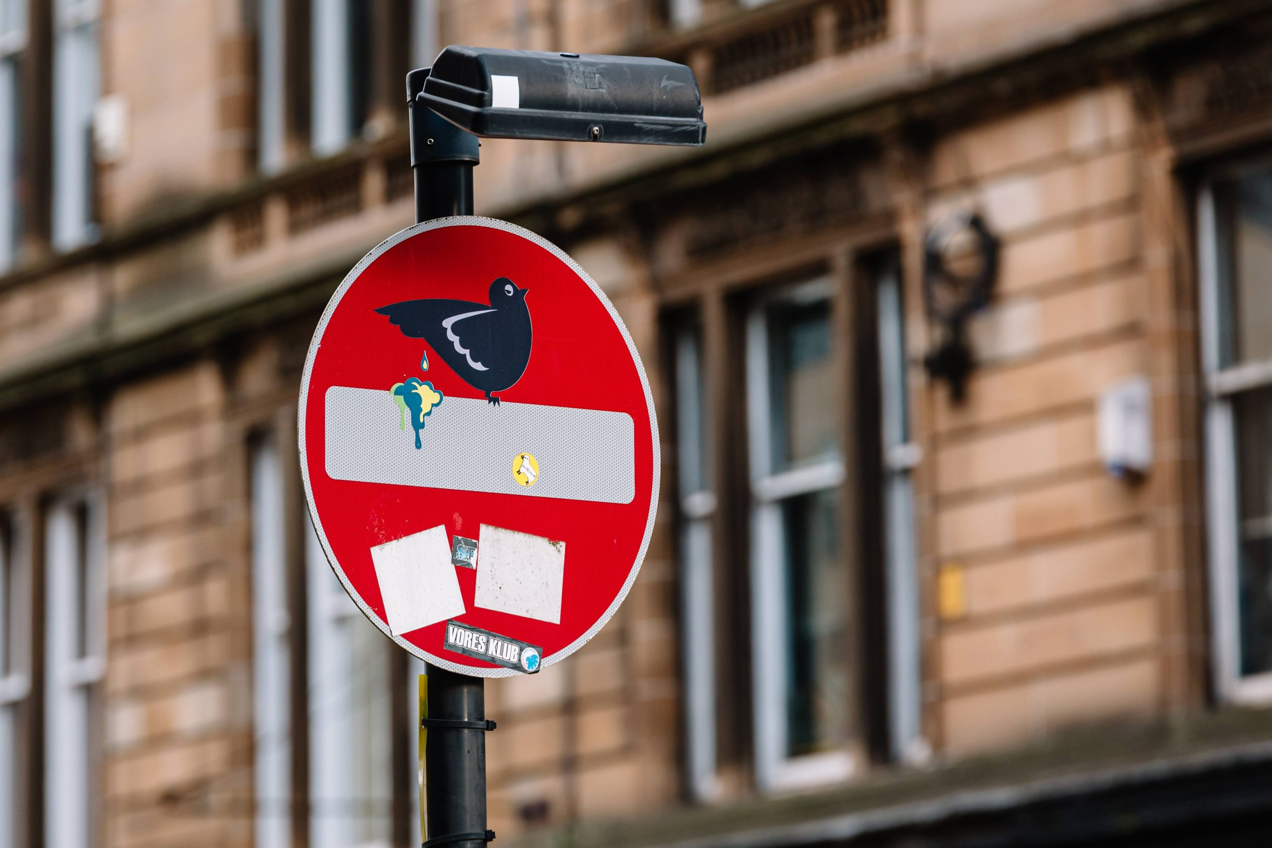 Ambraham Clet's hijacked traffic sign