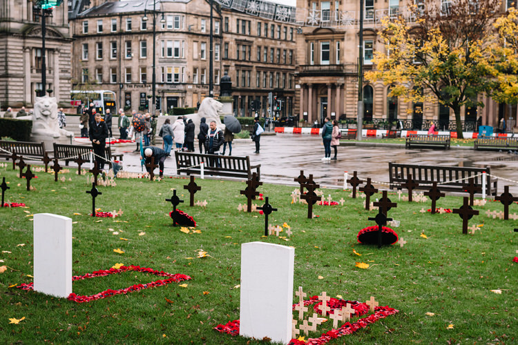A few Glaswegians who turned up to pay their tribute on Remembrance Sunday at George Square