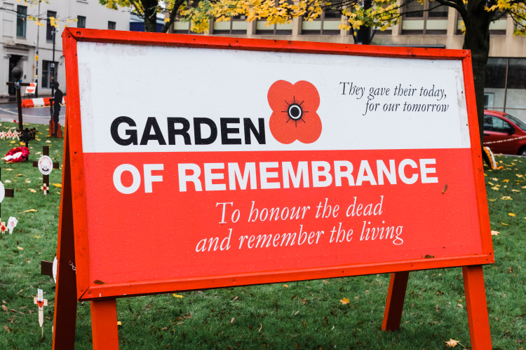 Garden of Remembrance in George Square